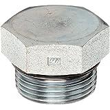 3/4\ Tube OD, 1-1/16-12 : Brennan 6408-24-O Steel Straight Thread O-Ring Tube Fitting, External Hex Plug, 1-1/...