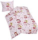 Vamos - 56779 - Ameublement et Décoration - Housse de Couette + Taie d'oreiller - Rose - 100% Coton - 140x200 cm