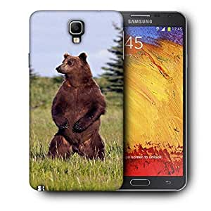 Snoogg Standing Bear Printed Protective Phone Back Case Cover For Samsung Galaxy NOTE 3 NEO / Note III