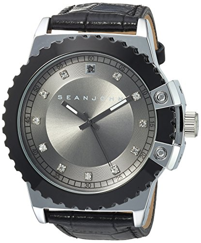 Sean-John-Mens-Diamond-Quartz-Metal-Casual-Watch-ColorBlack-Model-10030885
