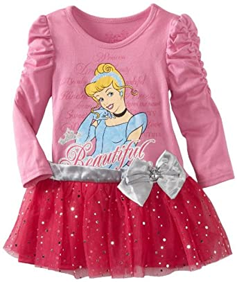 Disney Little Girls' Toddler Cinderella Beautiful Dress, Pink, 2T