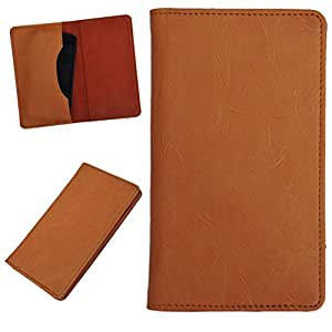 DCR Pu Leather case cover for Intex Cloud Y2 (orange)