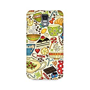 Mobicture Abstract Tea Party Premium Printed Case For Samsung S2 I9100/9108