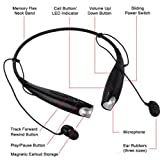 JPC® Hbs-730 Wireless Bluetooth Stereo Headset Headphone for Lg Samsung Iphone Sony Nokia Htc + Black USB Car Charger (Black)