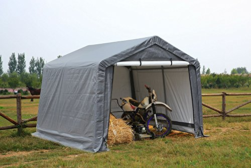 ATV Shelter, Mini Portable Garage,Grey, 6 Leg Steel Frame 10 x10 x8-Feet (Instant Garage compare prices)