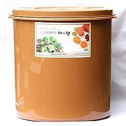 Premium Kimchi, Sauerkraut Fermentation Container with Inner Vacuum Lid - 11.8 Gallon (45L) Round Shape