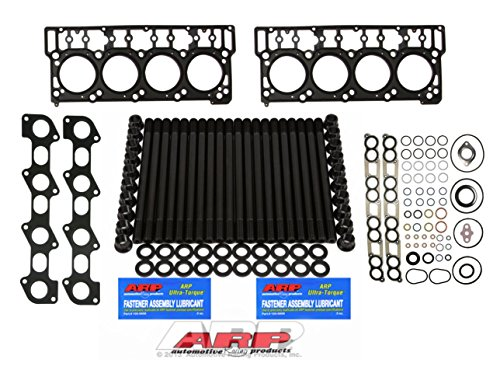 03-06 Ford Powerstroke 6.0L Diesel Custom ARP Head Stud Kit &Oem Style 18mm Head Gaskets & Intake Manifold Installation Kit & Exhaust Gaskets - Solution Kit - Bundle