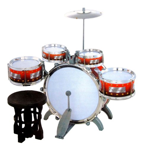 Jazz Drum Set with Chair - Music Toy Instrument for Kids 10 Pc : eBay