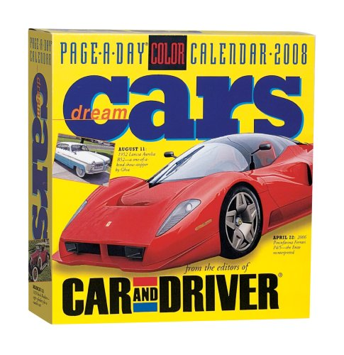 Dream Cars Page-A-Day Calendar 2008