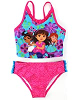 Dora and Friends Girls Pink Tankini Swimwear