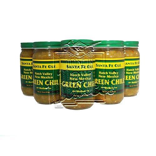 Santa Fe Ole Hatch Valley New Mexico Green Chile Medium (6) (New Mexican Green Chili compare prices)