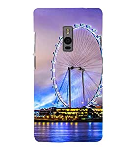 animated giant wheel at sea side 3D Hard Polycarbonate Designer Back Case Cover for One Plus Two :: One Plus 2 :: One+2 :: OnePlus 2