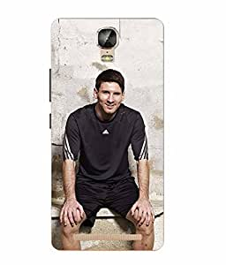 Case Cover Messi Printed Colorful Soft Silicon Back Cover For Gionee Marathon M5 Plus