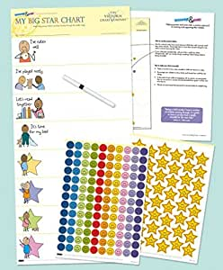 The Victoria Chart Company Kids Reward Chart My Big Star Reward Chart Manage Difficult Toddler Behaviors with Positive