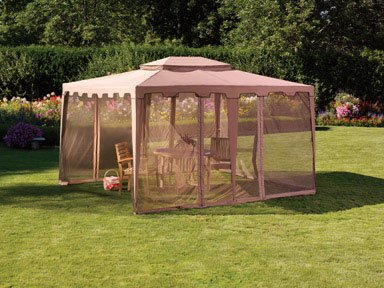 Living Accents Gazebo  Mosquito Netting, Taupe