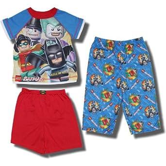 "Lego Batman ""Opposing Forces"" 3 piece short-sleeve pajama set for toddler boys - 4T"