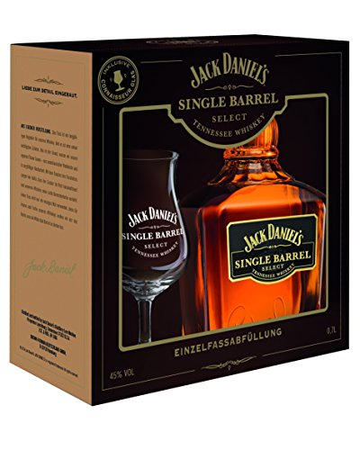 Jack Daniel discount duty free Jack Daniel's Single Barrel Whiskey 45 % vol. 70cl + 1 Glas Gift Set LIMITED EDITION