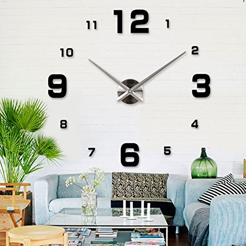 Bestgrew® Modern 3D Frameless Large Wall Clock Style Watch House DIY Room Home Decorations Model MAX3 #23