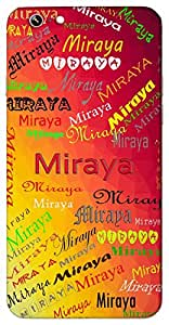 Miraya (Lord Krishna's devotee) Name & Sign Printed All over customize & Personalized!! Protective back cover for your Smart Phone : Moto X-Play