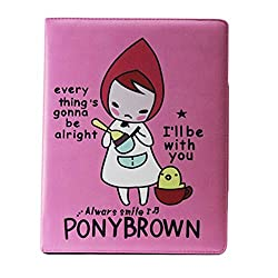 Pink Pony Brown Girl Flip Smart Leather Case Cover For Ipad 2,3,4
