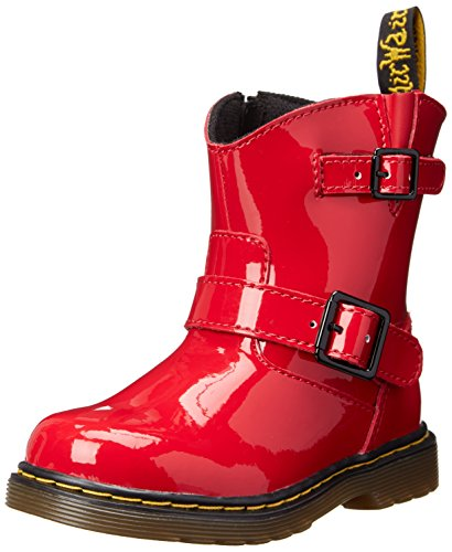 Dr. Martens Jiffy Boot (Toddler/Little Kid/Big Kid),Red Patent,7 Uk(8 M Us Toddler) front-1015332