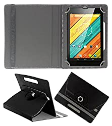 ACM ROTATING 360° LEATHER FLIP CASE FOR DIGIFLIP PRO XT712 TAB TABLET STAND COVER HOLDER BLACK