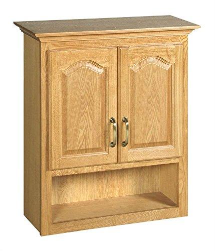 Design House 552844 26-Inch by 30-Inch Richland 2 Door Ready-To-Assemble Bathroom Wall Cabinet, Nutmeg Oak Light Oak 2 Door Cabinet