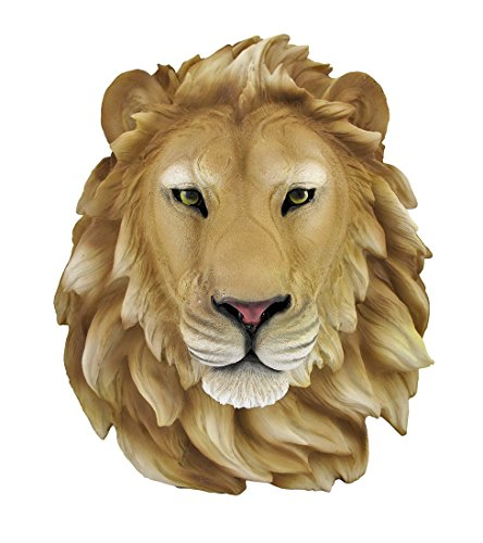 African Lion Head Mount Wall Statue Bust Leo (Statue Head compare prices)