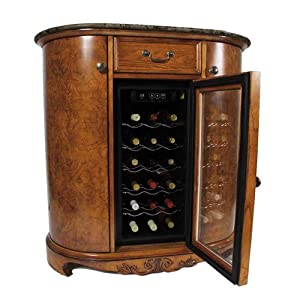 Wine cooler wine bar cabinet granite top home kitchen Home bar furniture amazon