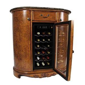 Wine Cooler Wine Bar Cabinet Granite Top Home Kitchen