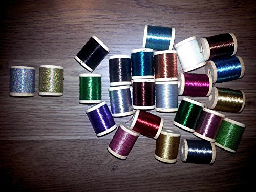 37 SPOOLS OF GUDEBROD AND PACBAY METALLIC SIZE D ROD BUILDING WRAPPINGRARE (Fishing Rod Thread D compare prices)
