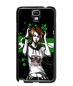 Fuson Music Girl Back Case Cover for SAMSUNG GALAXY NOTE 3 NEO - D3716