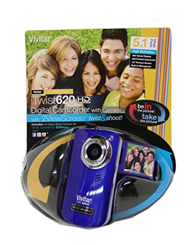 Vivitar DVR620-GRP Ultimate Selfie Digital Camera 5.1 MP with 1.8-Inch TFT LCD, Colors May Vary (Camera Digital Vivitar compare prices)