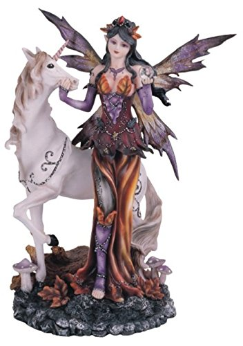 StealStreet Ss-G-91563 Orange Fairy with Unicorn Collectible Figurine Decoration Decor, Purple