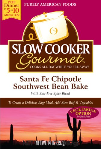 Slow Cooker Gourmet Santa Fe Chipotle Southwest Bean Bake 14 Ounce Boxes Pack of 6