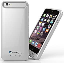 iPhone 6 Battery Case: Stalion® Stamina Rechargeable Extended Charging Case 3100mAh (Quick Silver)[Apple MFi Certified] for iPhone 6 & iPhone 6s (4.7-Inches)