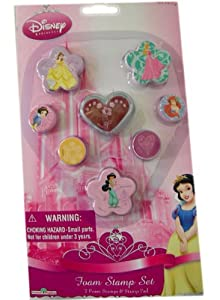 7 Piece Disney Princess Stamp Set - Princess Rubber Stamps