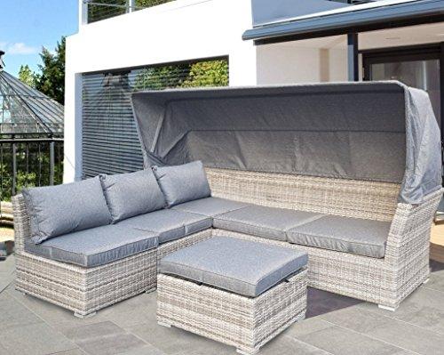Strandkorb-Lounge-Palma-Cabrio-Sofa-Alu-Geflecht-5tlg-grey
