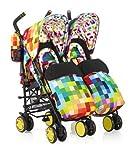 Cosatto Supa Dupa Twin Stroller (Pixelate) 2014 Range