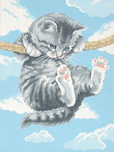 Dimensions Needlecrafts Paintworks Paint By Number, Hang On Kitty - 1