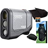 Tasco Tee-2-Green (Standard Version) Golf Laser Rangefinder PlayBetter Pack | 2019 | 5X Mag, 1 Yard Accuracy, Scan Mode, (+Cart Mount, Microfiber Towel, Two CR2 Batteries) (Color: +Cart Mount, Towel & Batteries)