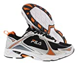 Fila Footwear Men's Trexa Lite 2 Running Shoe,Black/Metallic Silver/Vibrant Orange,11 M US