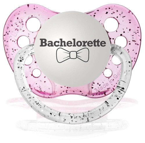 Personalized Pacifiers Bachelorette in Glitter Pink - 1