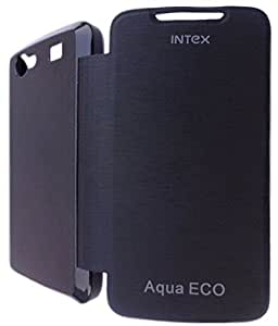 BRYNN Flip Cover For Intex Aqua Eco -Black