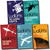 Robert Ludlum Robert Ludlum Collection Covert One 5 Books Set (Bourne Trilogy Series Author) (The Hades Factor, The Arctic Event, The Cassandra Compact, The Altman Code, The Lazarus Vendetta)