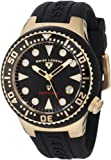 Swiss Legend Women's 11044D-YG-01 Neptune Black Dial Black Silicone Watch