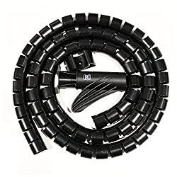 MX CABLE ORGANIZER CABLE MANAGEMENT WIREMESH EASY CABLE COVER 22MM - 1.5M - MX 2696A - Black