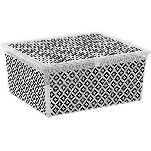Kis 8409000 2047 Geometric Style 01 C Box-Scatola portaoggetti, in plastica, 18 L