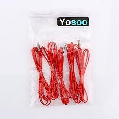 Yosoo 5 pcs 12V 40W Reprap Ceramic Cartridge Heater For 3D Printer Prusa Mendel SHIPPING FROM US High quality