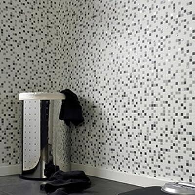 Mosaic' Wallpaper in Black & White from wallpaper heaven